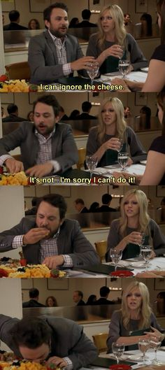 "When he couldn't keep his love of cheese under control. | 23 Times Charlie Kelly Was The Greatest Character On ""It's Always Sunny..."