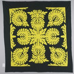 Object: Tivaevae manu (applique quilt) | Collections Online - Museum of New Zealand Te Papa Tongarewa