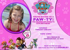 Boy and Girl Paw Patrol Invitations by 4EVRDesignsBYKristyn