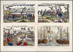 Jean Charles Pellerin  (FRENCH, 1756-1836) Seven Napoleon Battle Scenes : Lot 132-6139 #pellerin #french #napolean #woodcut