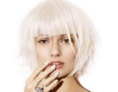 white hairstyle. Very cool!