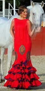 Flamenca Rojo con Morao