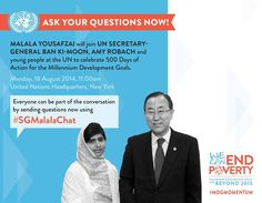 """Do you have a question for SG Ban Ki-moon & on Post now using"