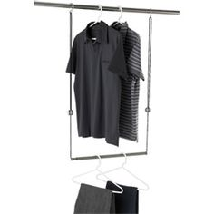 Dublet Adjustable Closet Rod Expander by Umbra®  Give the gift of twice as much hanging space!