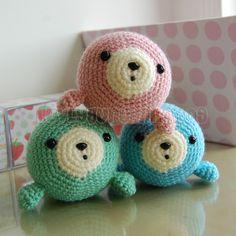Pequeño sello Gurumi Crochet Patrón por LuvlyGurumi en Etsy, $3.00