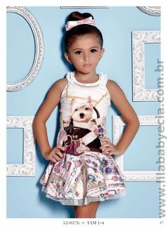Miss Cake Doce Princesa Kids Outfits Girls, Kids Girls, Baby Girls, Shorts E Blusas, Miss Cake, Lila Baby, Girls World, Girls Tees, Pleated Skirt
