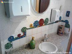 """{Estúdio Joe & Romio} mosaicos: Borda em mosaico - Projeto """"Caracóis Coloridos"""""""
