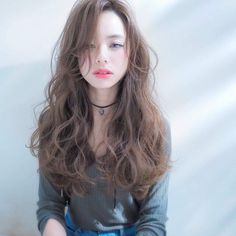 Japan Hairstyle, My Hairstyle, Permed Hairstyles, Cool Hairstyles, Curly Asian Hair, Medium Hair Styles, Curly Hair Styles, Q Hair, Ulzzang Hair