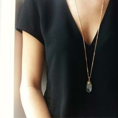 MINIMAL + CLASSIC If this was a dress I would love it and it looks great paired with the necklace.