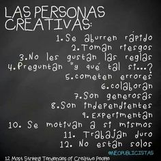 Personas creativas everywhere Some Quotes, Great Quotes, Inspirational Quotes, Phrase Of The Day, Quotes En Espanol, Mr Wonderful, Creativity Quotes, Spanish Quotes, Positive Vibes