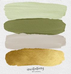 Want a naturally elegant color scheme for your wedding? Check out this week's Perfect Palette from the experts at Invitations by Dawn. Sage, Cedar, Gold and Tea. deco color palette colour schemes The Perfect Palette: Sage, Cedar, Tea & Gold