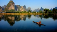 Lake Reflection, Guangxi, China