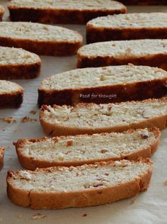 Food for thought: Biscotti με αμύγδαλα Biscotti, Greek Recipes, Food For Thought, Cooking Recipes, Bread, Greek Food Recipes, Bakeries, Breads