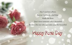 Happy Rose Day 2018 Love Wallpapers and Romantic Rose Ultra HD Backgrounds.Latest Rose Day Wish Cards.Love Quote With Rose Images,Valentine Week Pics Short Valentines Day Poems, Valentine Special, Valentine Day Love, First Love Quotes, Love Quotes With Images, Quote Of The Day, Rose Flower Quotes, Rose Day Shayari, Valentine's Day 2018
