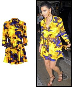 Kim K sporting the bold print trend