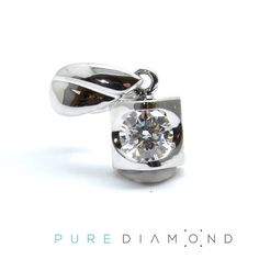 $350 Simple Modern Pendant set with a 0.15 carat Canadian Diamond