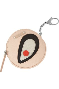 Fendi | Textured-leather coin purse key fob | NET-A-PORTER.COM