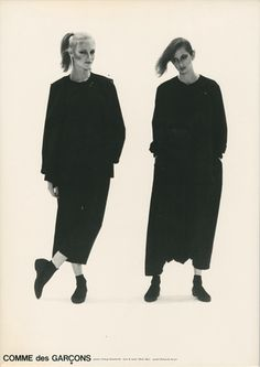 Comme des Garcons ad from 1980, photographed by Takuji Katabuchi.