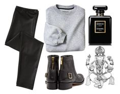"""""""#92"""" by danielsalvaterrafonseca ❤ liked on Polyvore featuring Rupert Sanderson and Chanel"""