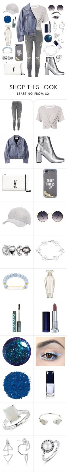 """Untitled #112"" by abglo ❤ liked on Polyvore featuring River Island, T By Alexander Wang, Acne Studios, Yves Saint Laurent, Kate Spade, Charlotte Russe, Spitfire, Elise M., Victoria's Secret and Maybelline"