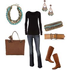 Black, Brown, and Turquoise-Love this color combo for fall!