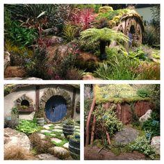 Northwest Flower and Garden Show exhibit.  Hobbit Garden.