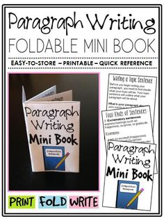 This mini book is a great addition to any English Language Arts classroom. Students no longer have an excuse for misplacing their notes, or not knowing how to write a proper paragraph.