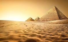 Descargar fondos de pantalla Egipto, las pirámides, los egipcios monumentos, Giza, dunas de arena, África, HDR