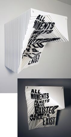 Alida Sayer   'All Moments' Typography Letters, Graphic Design Typography, Hand Lettering, Experimental Type, Stand Design, Typography Inspiration, Layers Design, Type Design, Installation Art
