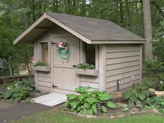 medium classic with 2 foot overhang 8 X 6 Shed, Chicken Enclosure, Pine Garden, Potting Sheds, Solid Pine, Cottage, Outdoor Structures, Rustic, Shelters