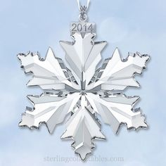 Waterford 2017 Silver Annual Snowflake Ornament | 2017 Crystal ...