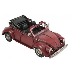 Retro Red Convertible - Tin Car Collectible Convertible, Vintage Inspired, Tin, Nostalgia, Retro, Infinity Dress, Pewter, Retro Illustration