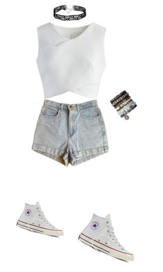 """""""Walking down the street"""" by h3llo6 on Polyvore featuring Chicwish, American Apparel and Converse"""