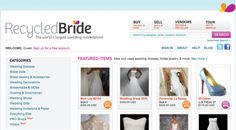 Blog post listing out the best online recycle your wedding resources.