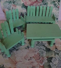 Old clothespin doll furniture.