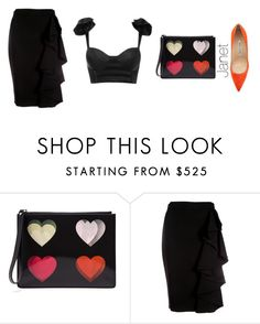"""""""Unbenannt #952"""" by janetplanet ❤ liked on Polyvore featuring Christopher Kane, Moschino and Manolo Blahnik"""