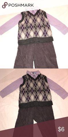 Boys 3PC Set 24MTHS Sweater - Button Up - Corduroy Pants 24MTHS Matching Sets