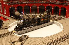 LEGO Train Builder Cale Leipahrtn - Beyond The Brick Wheelhouse Legos, Lego Studios, Lego Plane, City Layout, Lego Boards, Lego Ship, Lego Trains, All Lego, Lego Modular