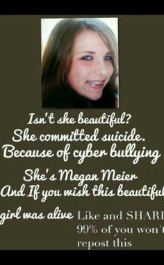 This is so sad. Stop bullying people! Be nice and at least try to be a friend or make friends instead of making people hurt themselves, commit suicide, etc. Stop Bullying, Anti Bullying, Cyber Bullying, Bullying Quotes, Faith In Humanity Restored, All That Matters, Look Here, Sad Stories, In This World