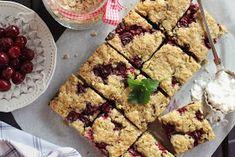 Juditka konyhája: ~ ZABPELYHES MEGGYES PITE ~ Oatmeal, Healthy Recipes, Healthy Food, Sweets, Cukor, Vaj, The Oatmeal, Healthy Foods, Gummi Candy