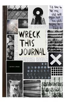 """""""Wreck This Journal Cover"""" by darkness-is-home ❤ liked on Polyvore featuring art, wisegirl02 and darknessishome"""
