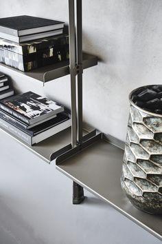 Shelf System, Shelving Systems, Golden Rose Cosmetics, Bookshelves, Bookcase, Modular Walls, Racking System, Ceiling Hanging, Modern Shelving