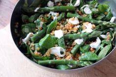 Weekend Cooking - Das Rezept zum Wochenende: Linsensalat mit grünem Spargel und Ziegenkäse