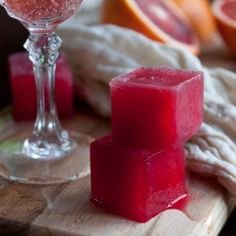 Add Blood Orange Ice Cubes to Champagne for the best Mimosa any brunch could ever have.