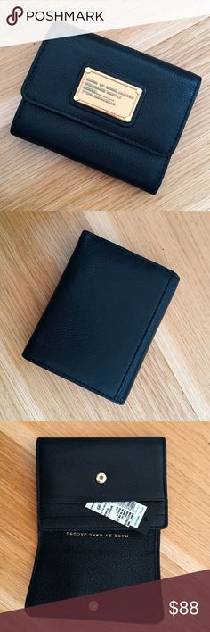 NEW Marc by Marc Jacobs Black Billfold Wallet NEW Marc by Marc Jacobs Black Billfold Wallet. Purchased from Saks Off Outlet. Perfect condition. 5 inches wide, 4 inches long Marc by Marc Jacobs Bags Wallets