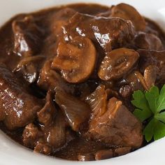 Cubed beef with mushrooms and onion soup cooked in a slow cooker. Very easy and delicious recipe. You may also like Middle Eastern Beef and Bean Stew Slow…More Mouth Watering Keto Stew & Soup Ideas Beef And Mushroom Stew, Beef Stew Meat, Slow Cooker Beef, Mushroom Recipes, Slow Cooker Recipes, Crockpot Recipes, Cooking Recipes, Recipes Using Stew Beef, Rump Steak Recipes