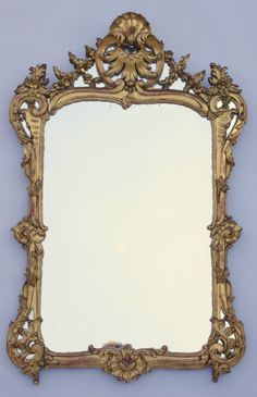 Louis XV period giltwood parecloses mirror Mantle Mirror, Trumeau Mirror, Mirror Mirror, Antique Mirrors, Cheval Mirror, Beautiful Mirrors, Candle Sconces, Bella, Sculptures
