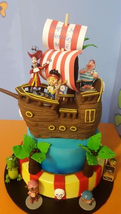 Jake & the Never Land Pirates Cake - Cake by Julie's Heavenly Cakes