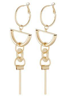 Pieces PCELENA - Earrings - gold-coloured - Zalando.co.uk