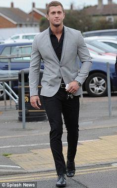 Quick switch: Dan Osborne, left, and Mario Falcone, right, arrived in their everyday attir...